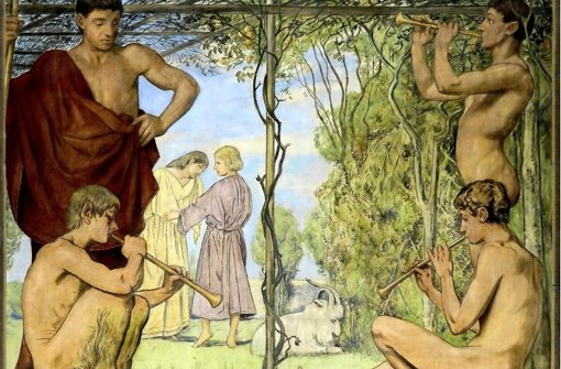 Youths and Satyr